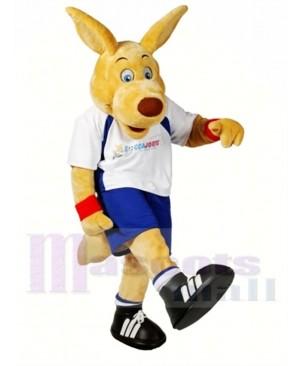 College Sporty Kangaroo Mascot Costume